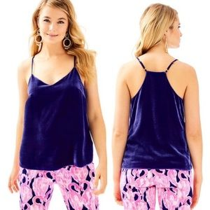 NWT Lilly Pulitzer Dusk Racerback Velvet Top Small